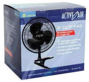 Active Air 8″ Clip Fan, 10W